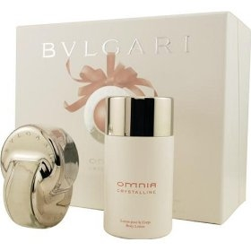Bvlgari Omnia Crystalline Gift Set EDT 65 ml + 100 ml showergel + 100 ml body lotion